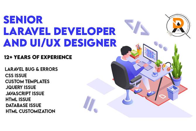 Portfolio for Laravel Development & UI/UX Designing
