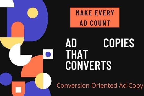 Portfolio for I will write Facebook and Google ad copy