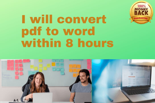 Portfolio for I will convert pdf to word within 24 hr