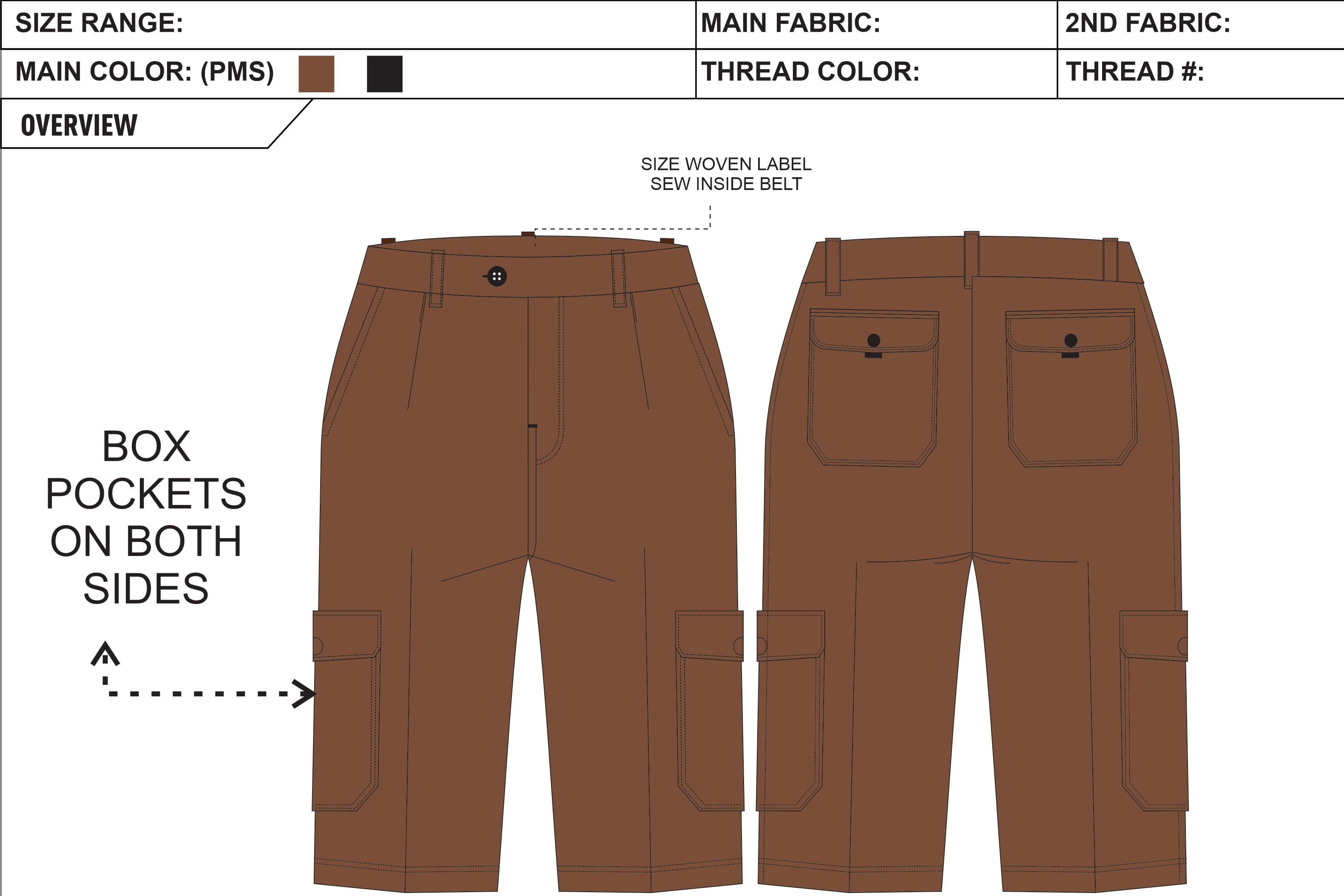 Portfolio for Apparel Garments Techpacks