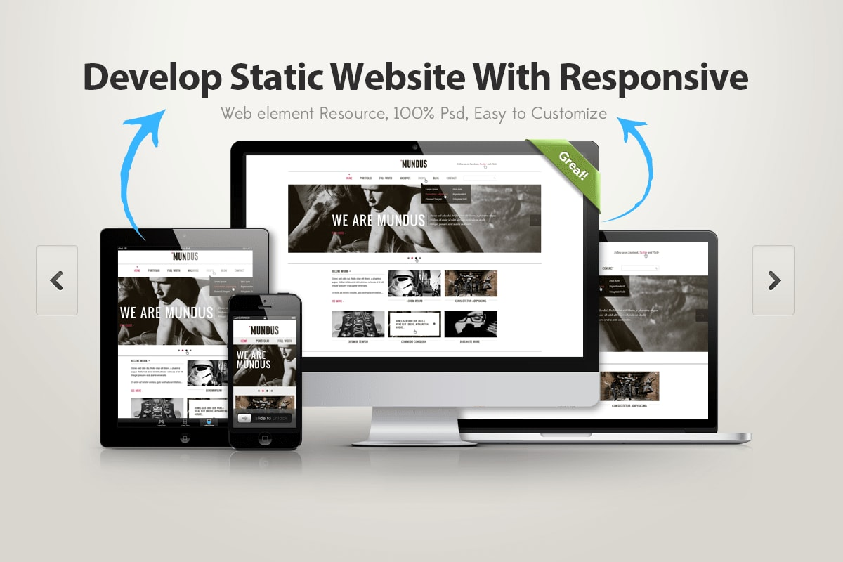 Portfolio for Static website free host by github pages