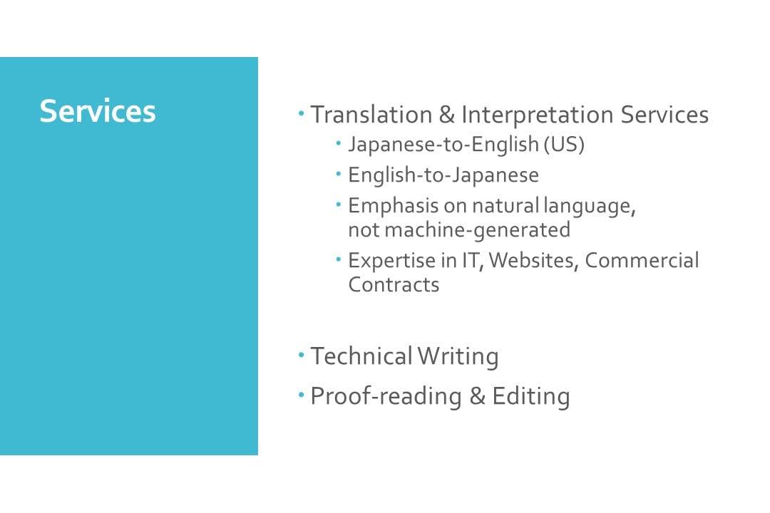 Portfolio for Japanese-to-English Translations