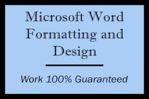 Portfolio for Microsoft Word Formatting and Design