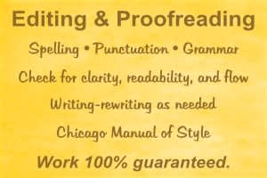 Portfolio for Editing and Proofreading – Books