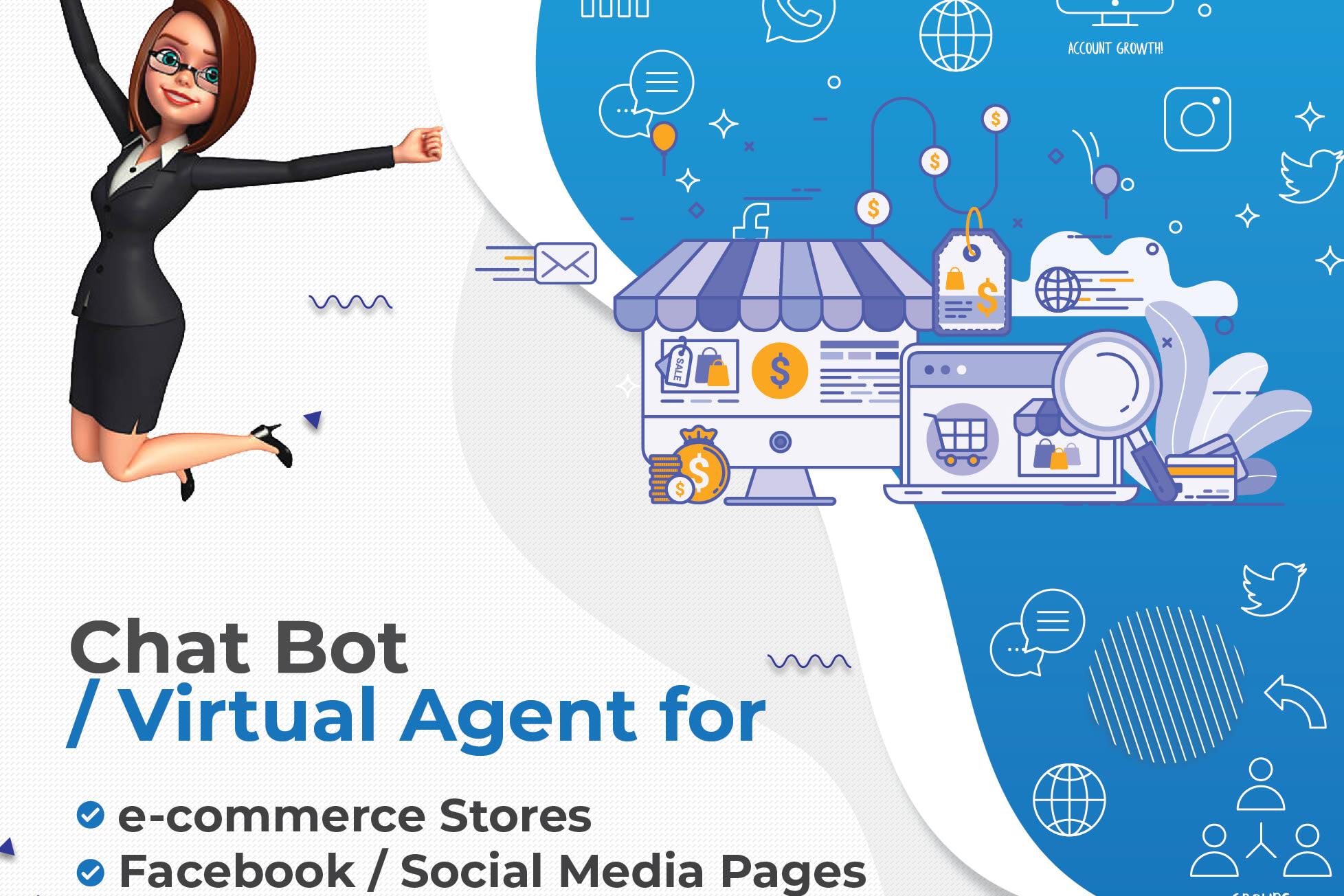 Portfolio for ai ChatBot: Facebook Websites e-commerce