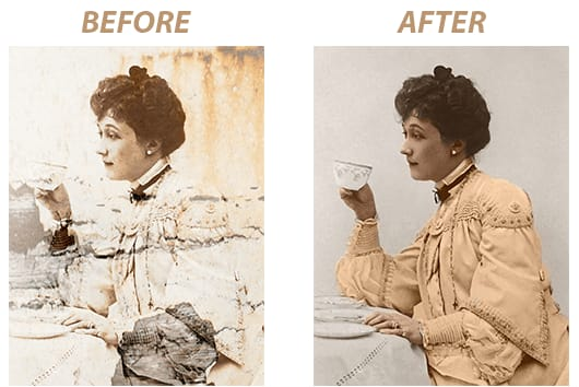 Portfolio for old photo restoration photoshop