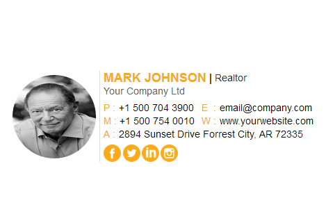 Portfolio for Clickable email signature