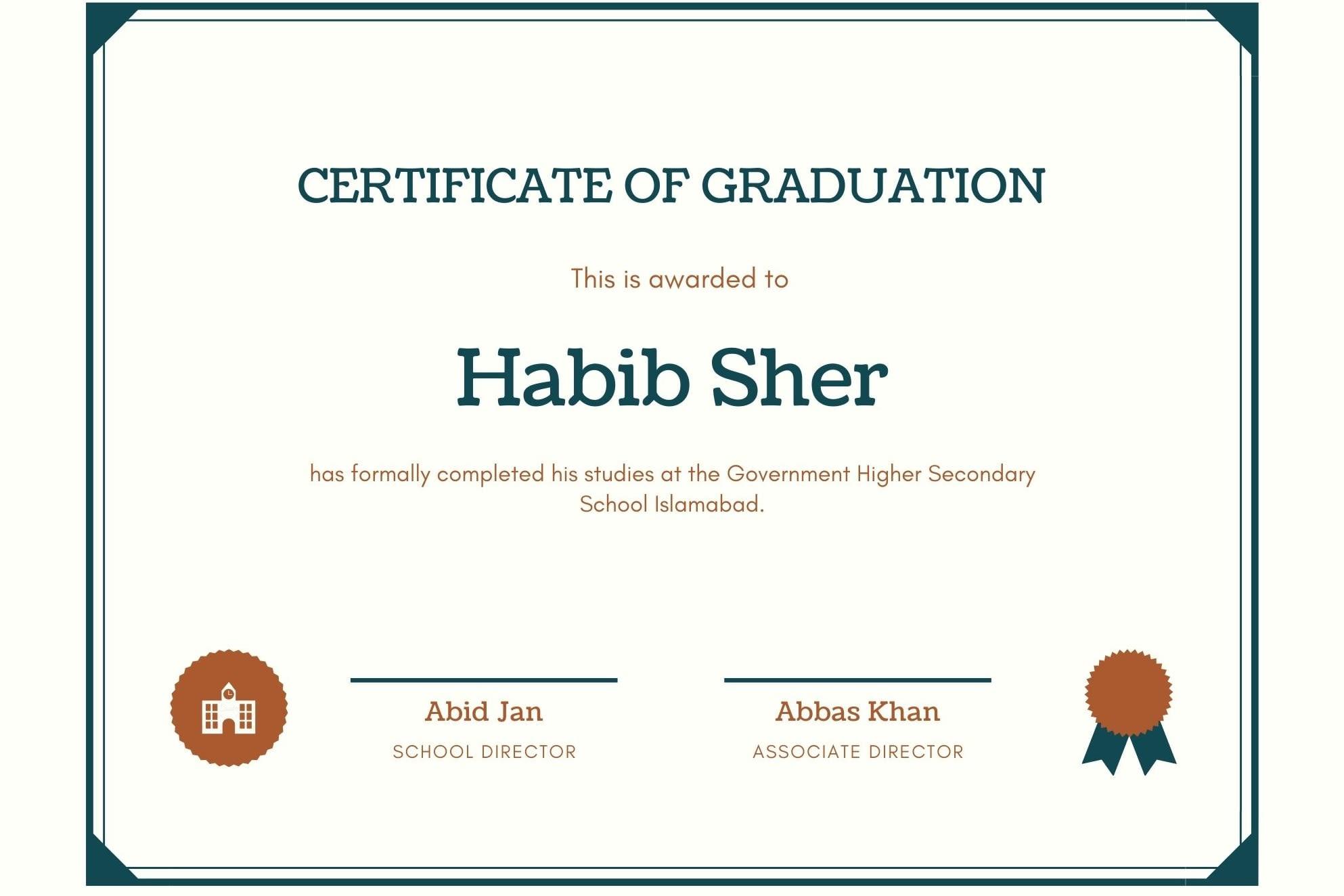 Portfolio for Certificate Design & Diploma Design