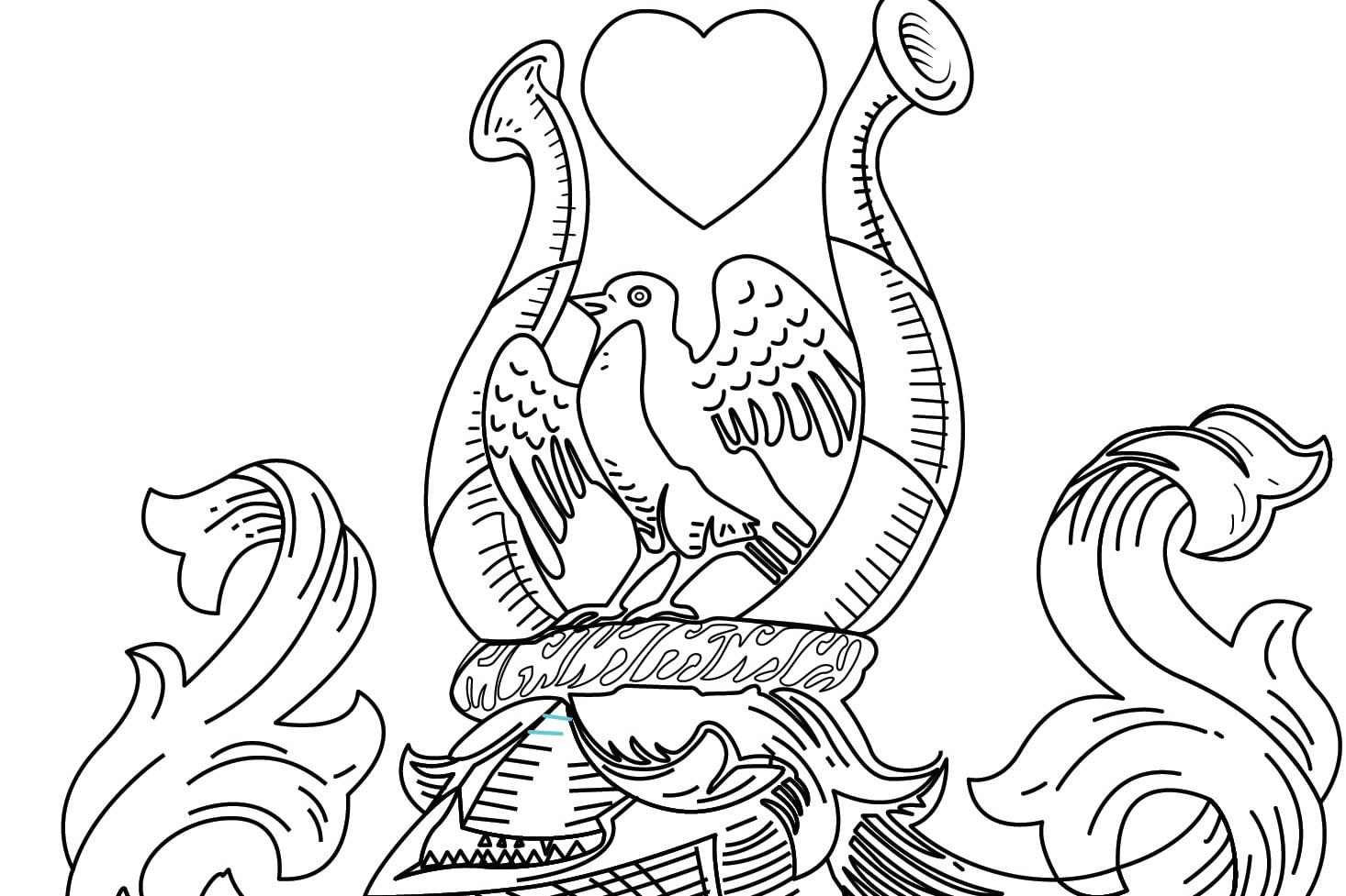 Portfolio for draw simply black and white line art