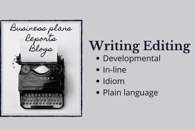 Portfolio for Writing, editing, developmental editing