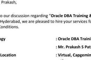 Portfolio for oracle database administrator
