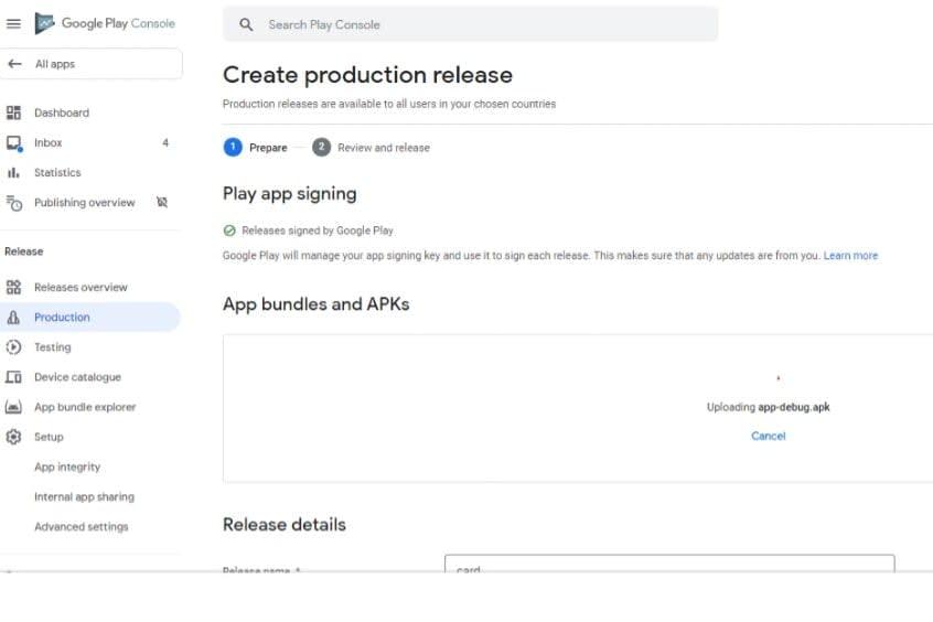Portfolio for Upload apps on google play store
