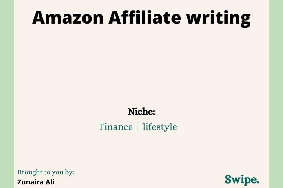 Portfolio for Amazon Affiliate Writing