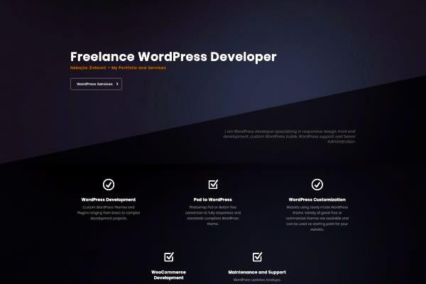 Portfolio for WordPress Development / Design