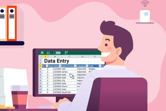 Portfolio for Data Entry, Typing, PDF and JPG to word