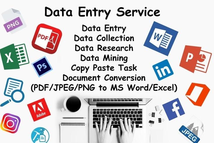 Portfolio for Data Entry, Word, Excel, PDF, Logo