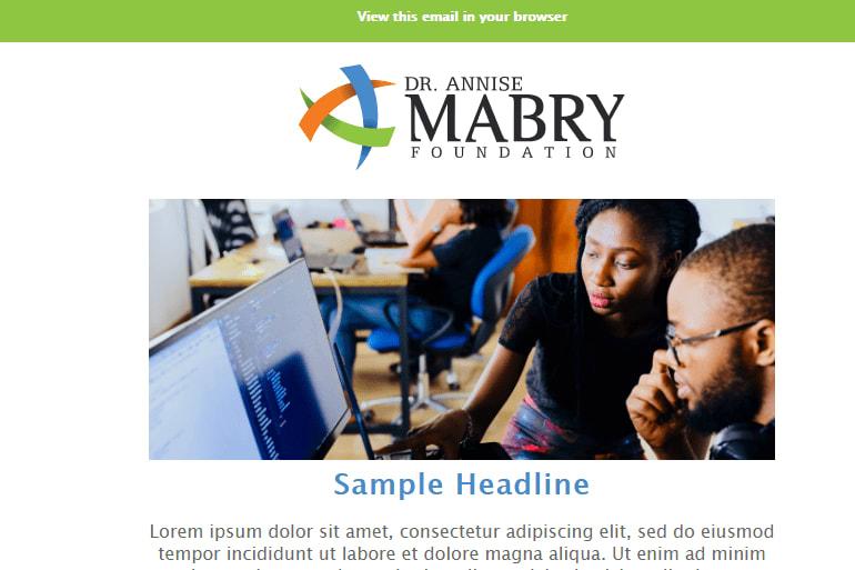 Portfolio for MailChimp Email Design