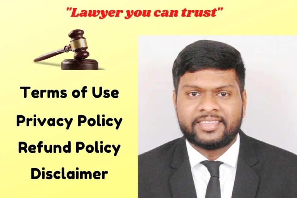 Portfolio for write terms of service & privacy policy