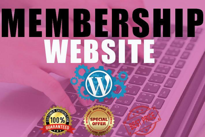 Portfolio for Wordpress Membership Website