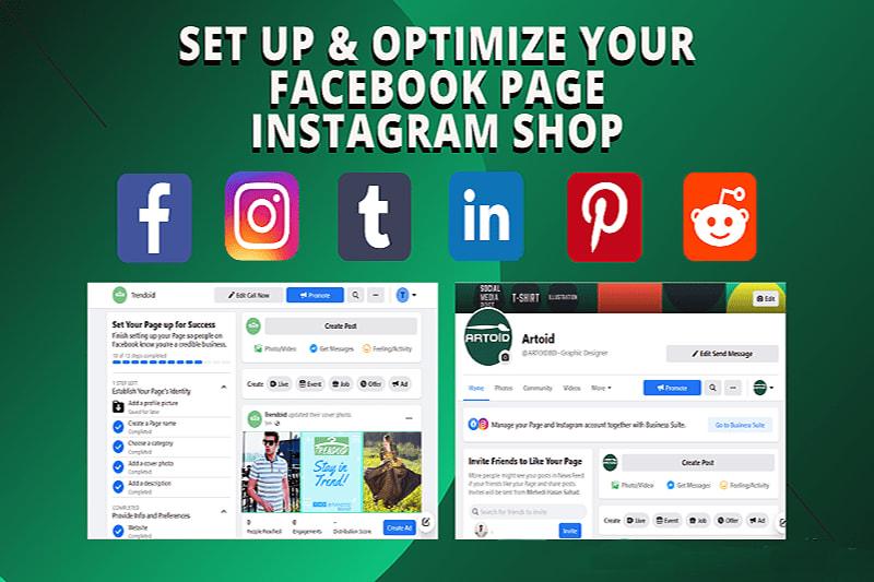 Portfolio for Create Facebook & Instagram Page & Shop