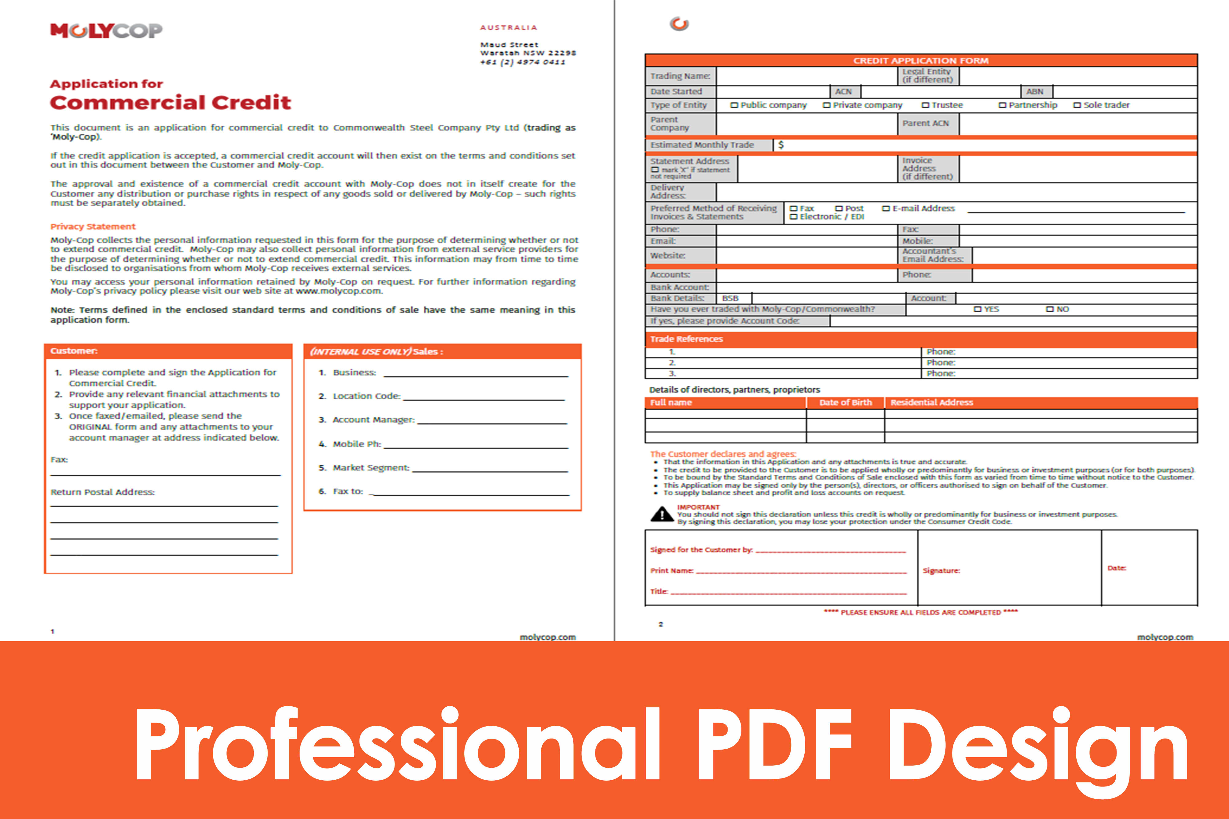 Portfolio for PDF Fillable Forms