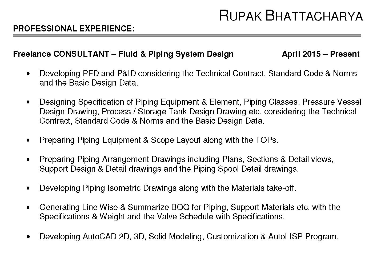 Portfolio for Fluid & Piping System Design Engineering