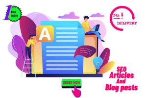 Portfolio for Seo Article, Blog posts, Blog Customize