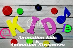 Portfolio for Kids animation | Streamers animation