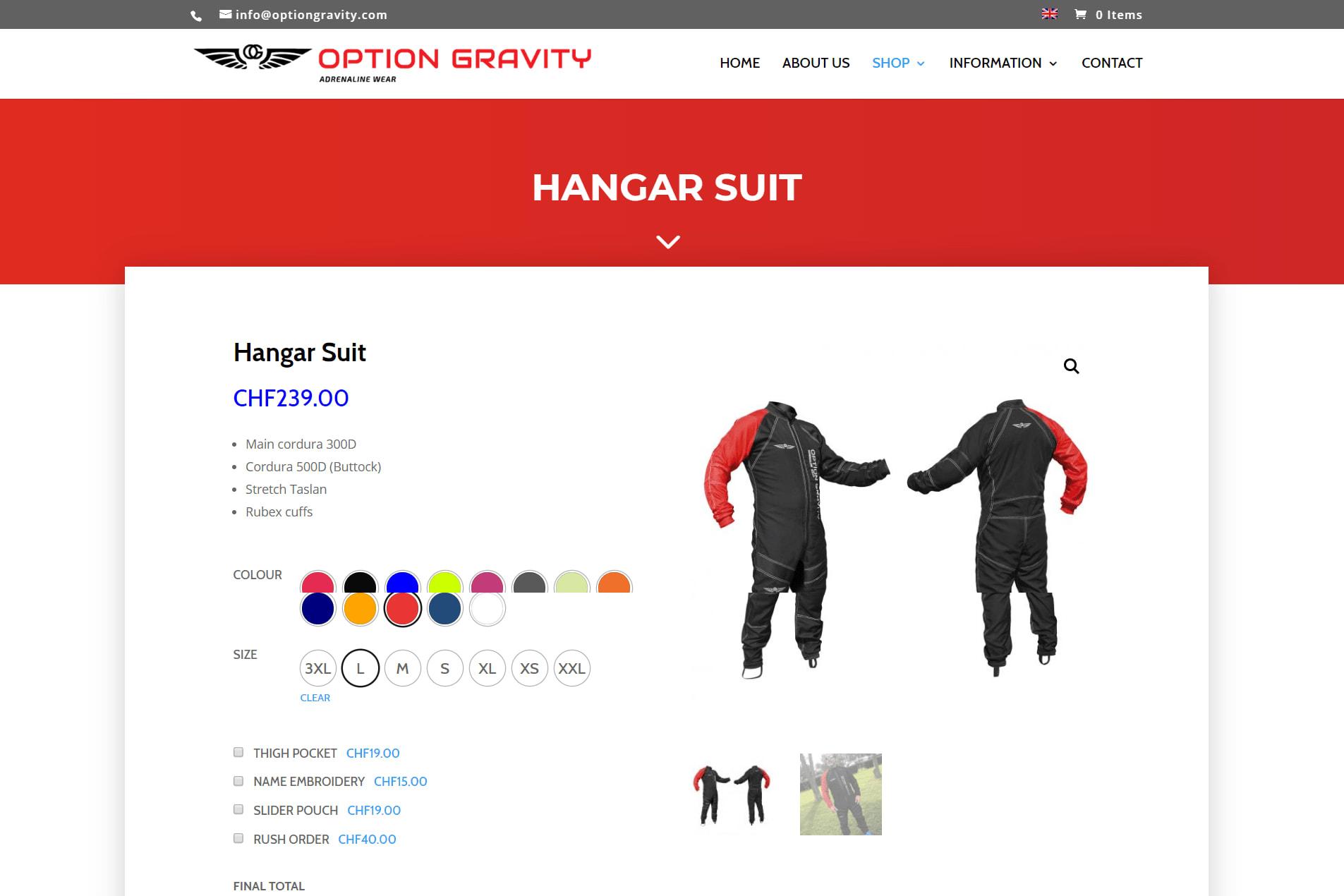 Portfolio for E-commerce store on WordPress