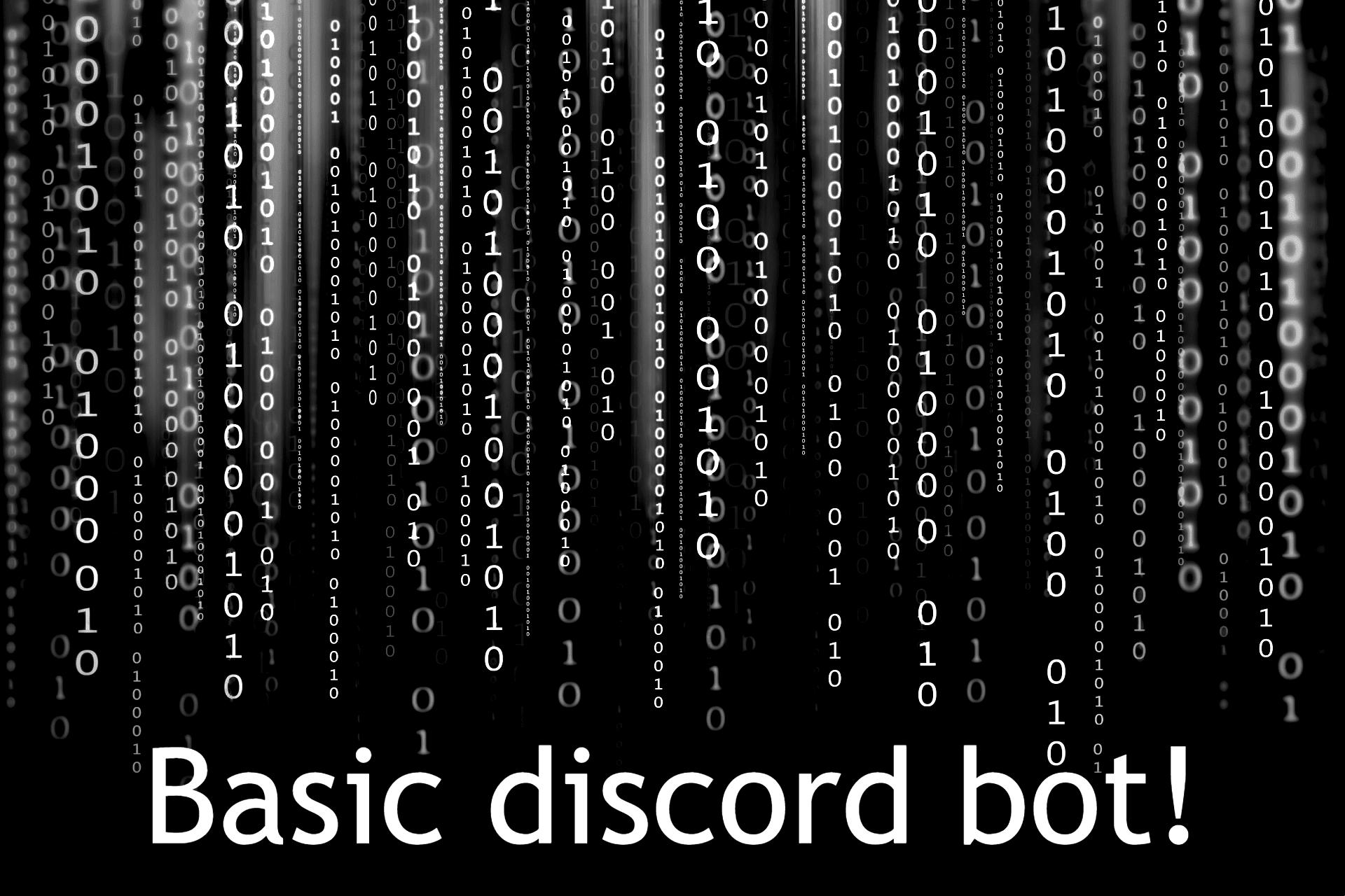 Portfolio for I will make a basic discord bot