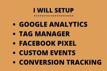 Portfolio for Setup facebook pixel, google analytics