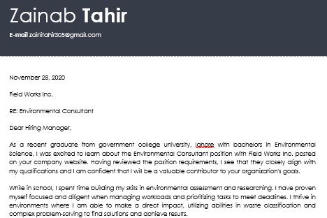 Portfolio for resume writing and job application