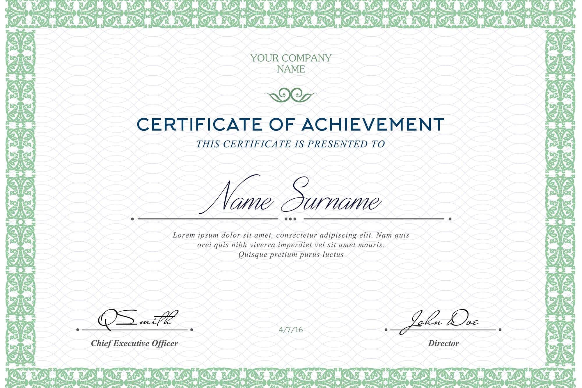Portfolio for creates unique certificate design