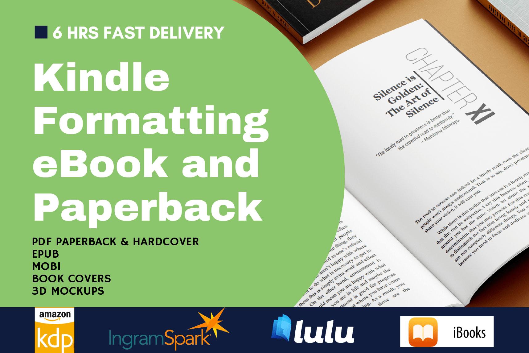 Portfolio for Paperback and eBook Formatting