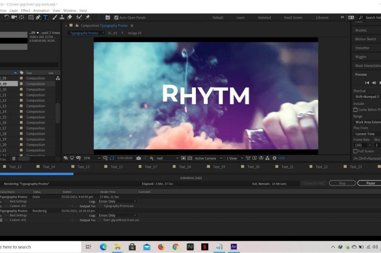 Portfolio for video editing for YouTube