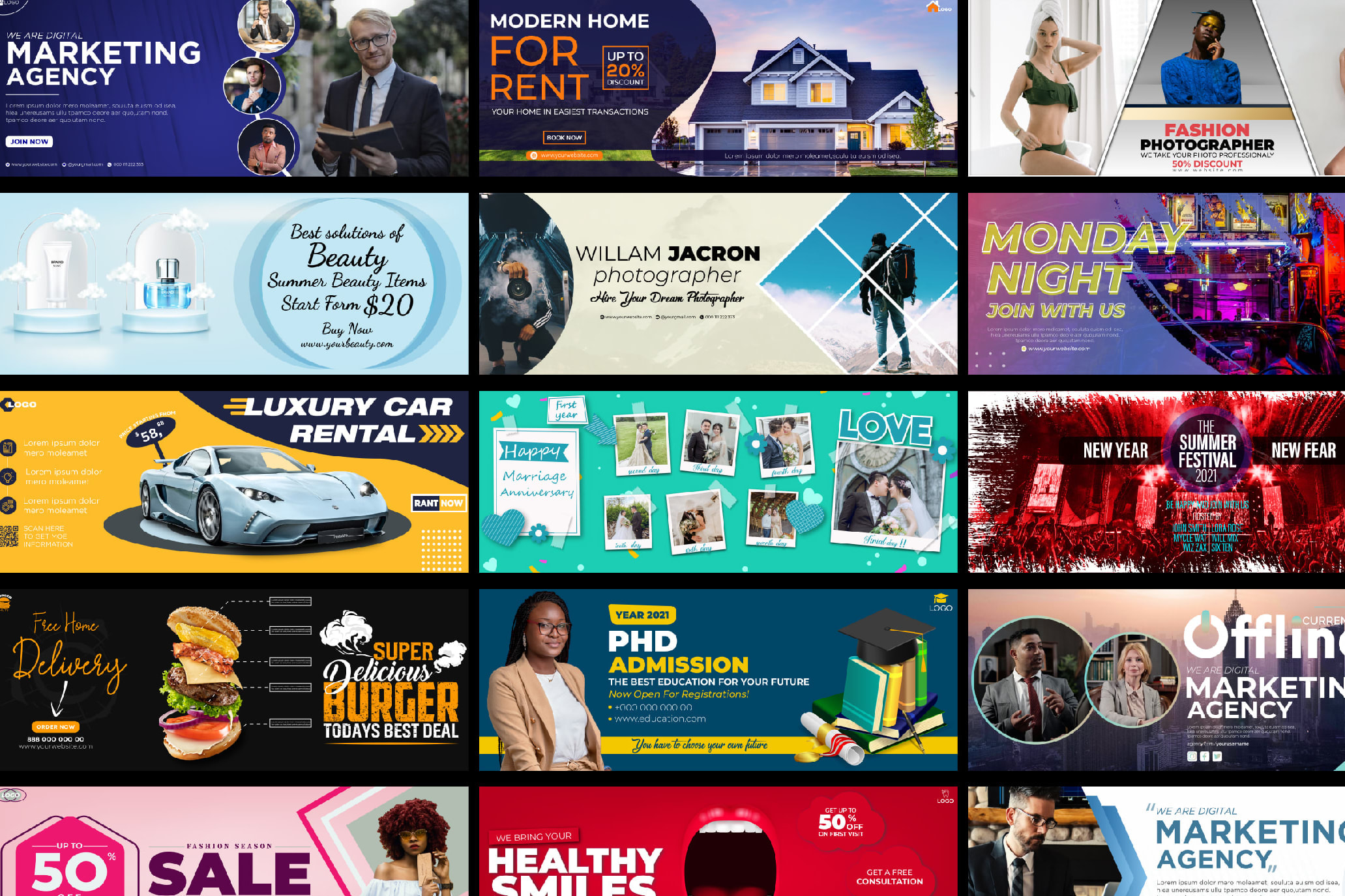 Portfolio for Web Banners/Social Media