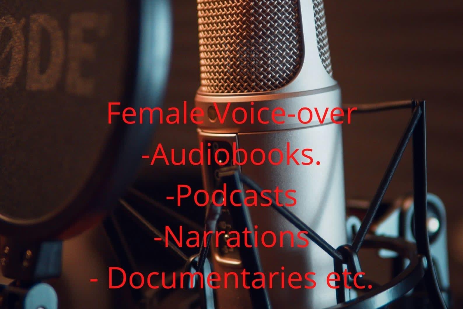 Portfolio for Female English Voice-Over.