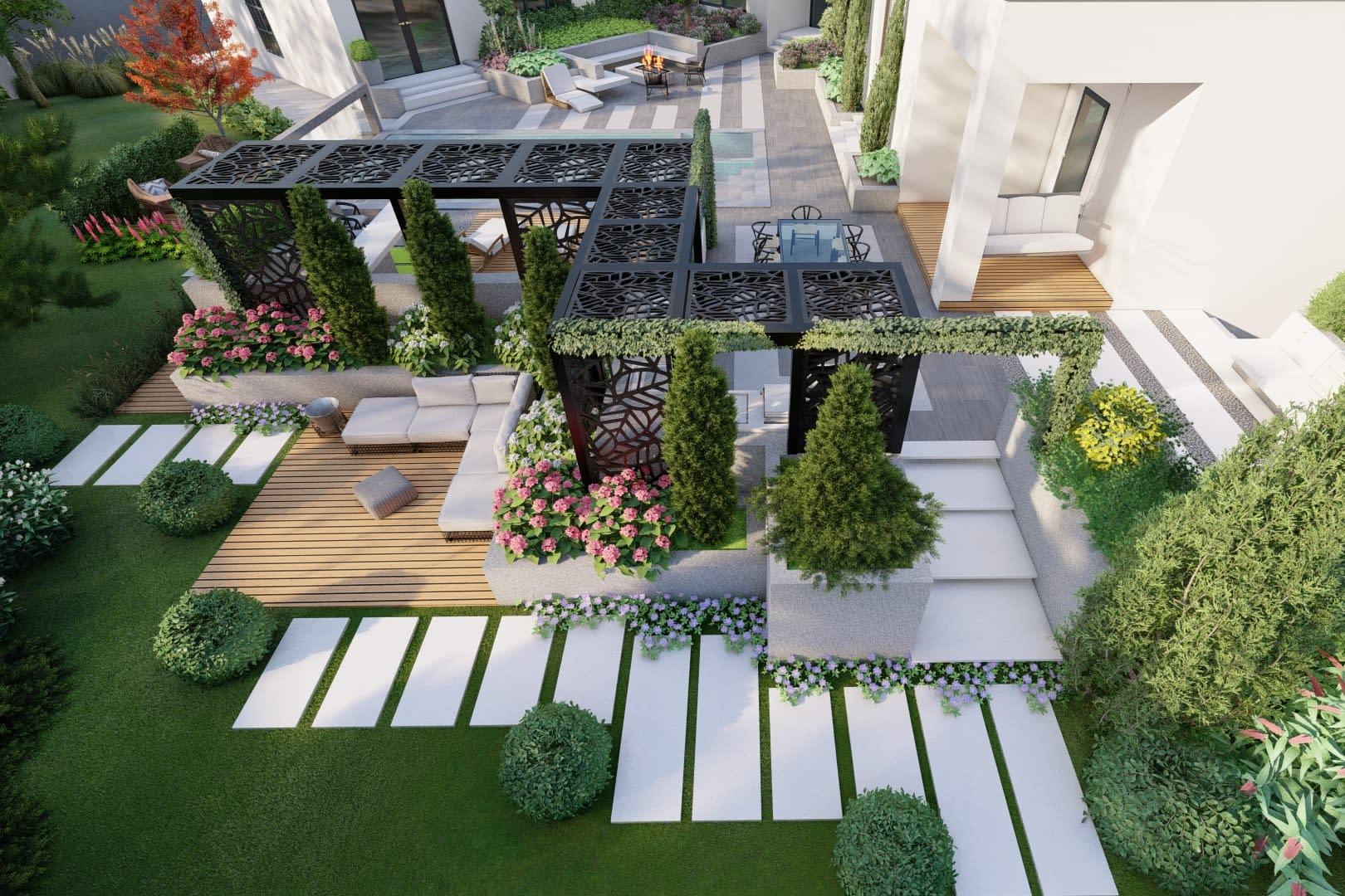 Portfolio for Full yard landscape design