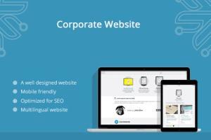 Portfolio for CORPORATE WEBSITE DESIGN