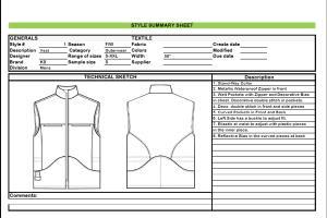 Portfolio for Tech Packs for Fashion Production
