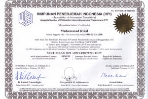 Portfolio for English-Indonesian Certified Translator