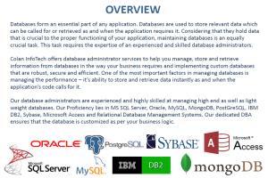 Portfolio for DBA Service - SQL/Oracel/MySQL/MongoDB