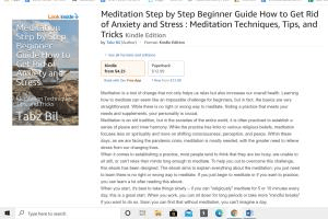 Portfolio for Published Meditation Ebook