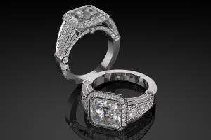 Portfolio for 3d jewelry design, Rhinoceros, Matrix