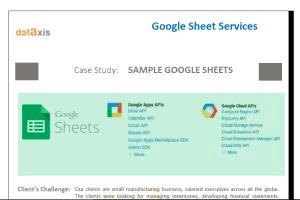 Portfolio for Google Sheet Services