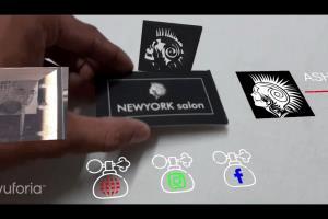 Portfolio for Make AR Augmented reality business card