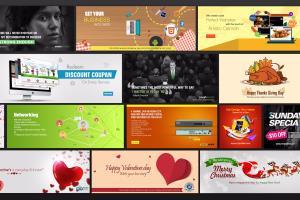 Portfolio for Banner designs, banner ads, bannericons