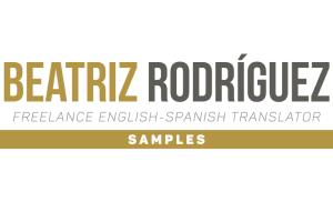 Portfolio for English-Spanish Translations