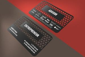 Portfolio for I will design unique metal business card