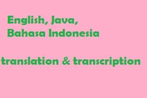 Portfolio for Java and Indonesian transcription